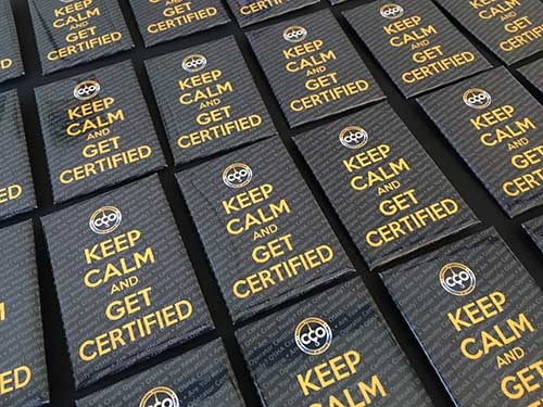 Keep Calm and Get Certified