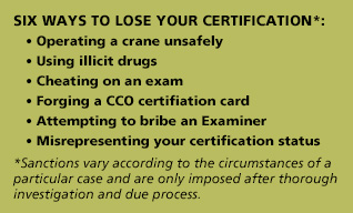 Six ways to lose your certification 02-18