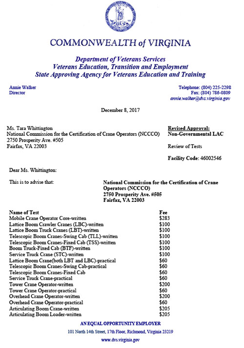 VA Re-Approves CCO Certification
